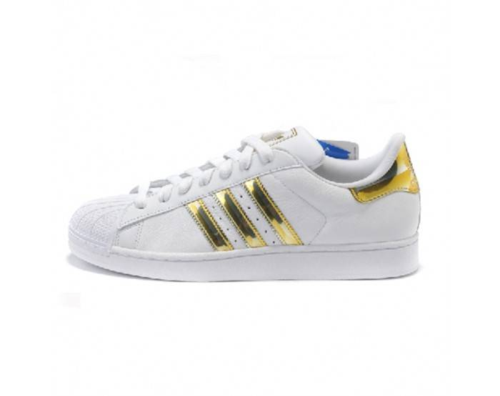 adidas Originals Superstar white & gold
