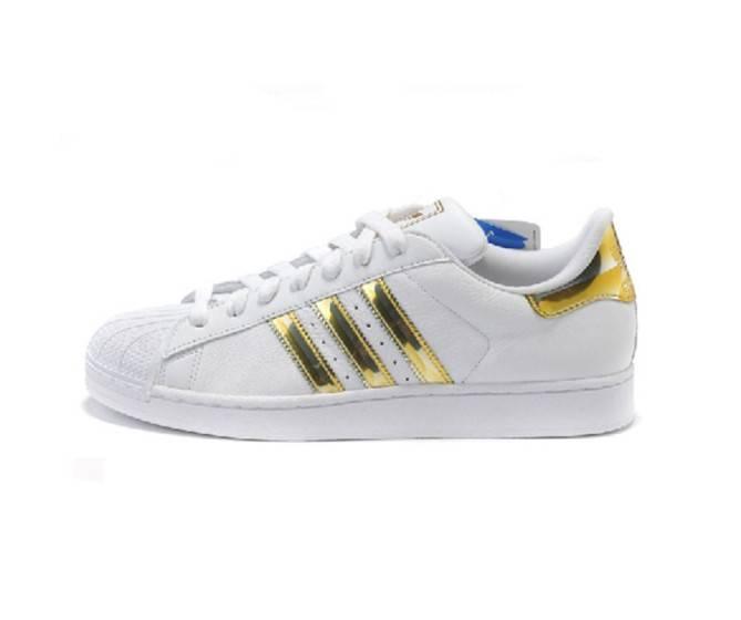 adidas Originals Superstar white & gold