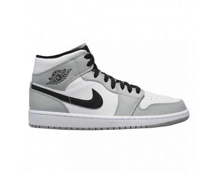 Femmes Nike Air Jordan 1 Mid Gris fumée