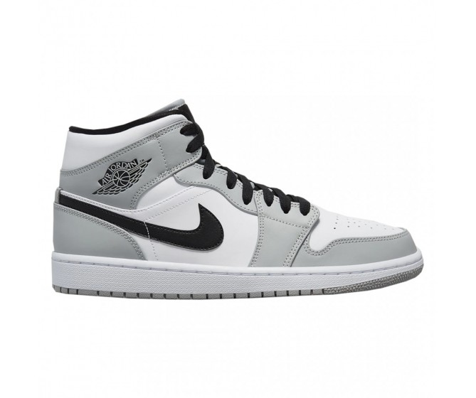 Women Nike Air Jordan 1 Mid Light Smoke Grey