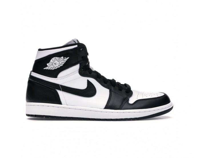 Femmes Nike Air Jordan 1 Mid Noir blanc