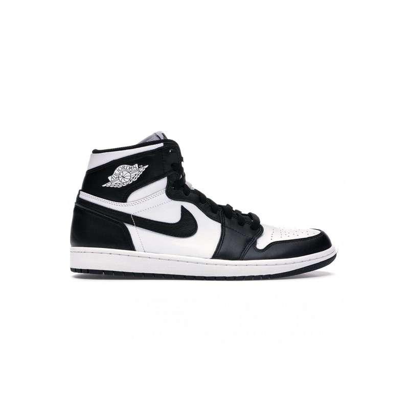 Hommes Nike Air Jordan 1 Mid Noir blanc