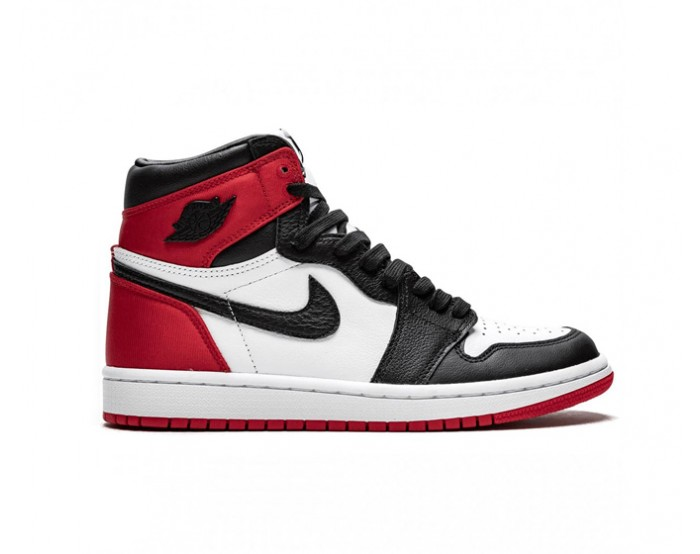 женщины Nike Air Jordan 1 Mid  Chicago Black Toe