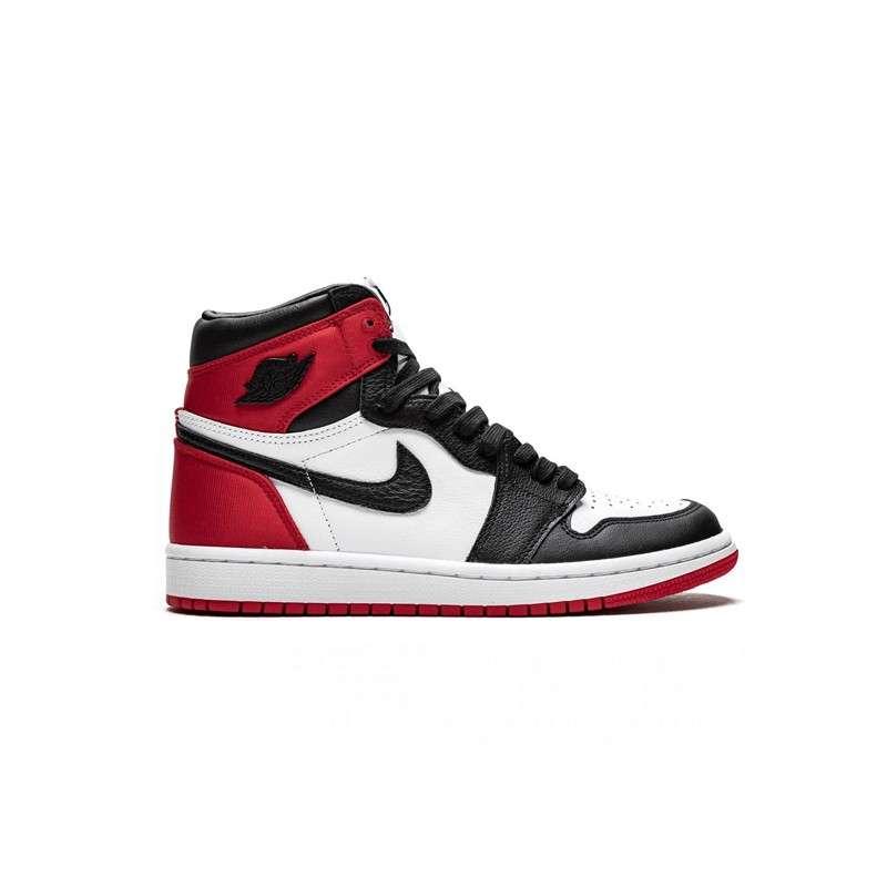 Femmes Nike Air Jordan 1 Mid Chicago Black Toe