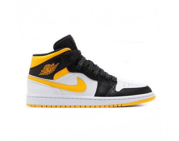 Women Nike Air Jordan 1 Mid Laser Orange Black