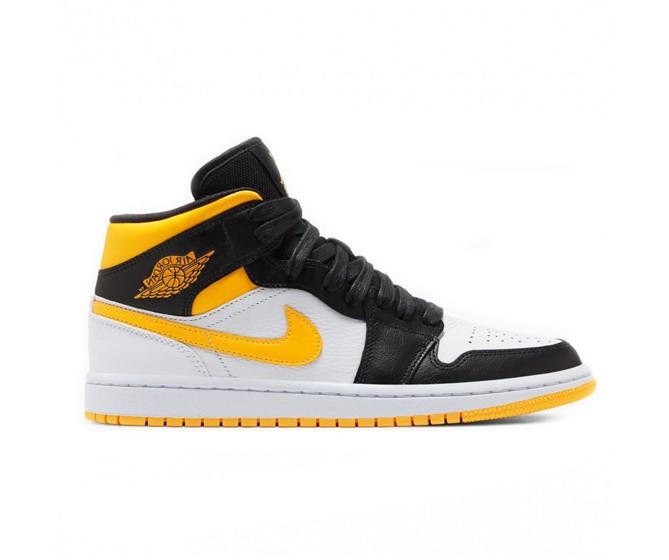 Women Nike Air Jordan 1 Mid Laser Orange Black