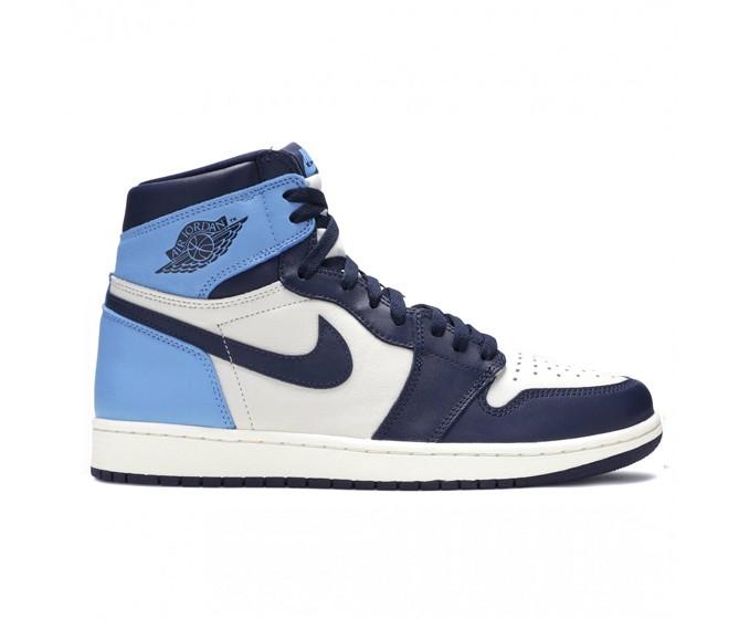 Hommes Nike Air Jordan 1 Mid Bleu