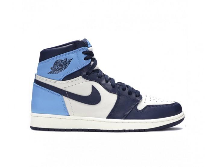 Femmes Nike Air Jordan 1 Mid Bleue
