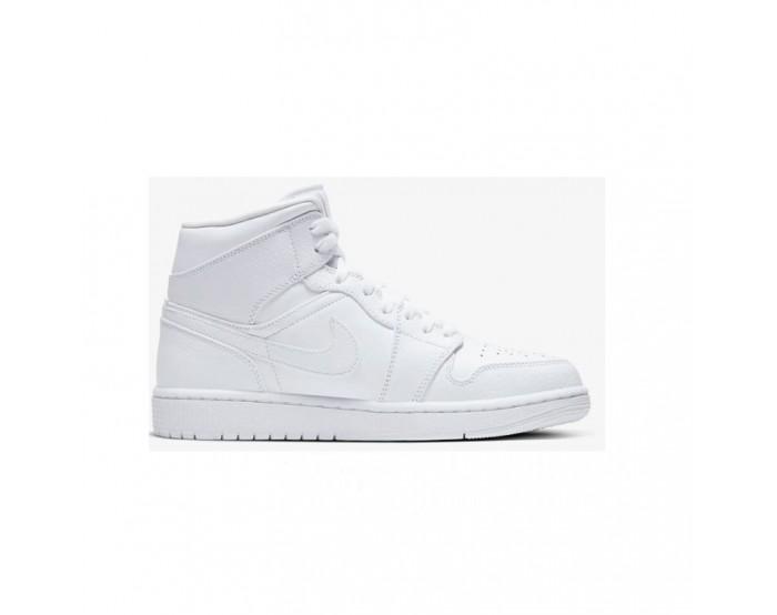 Hommes Nike Air Jordan 1 Mid  blanc