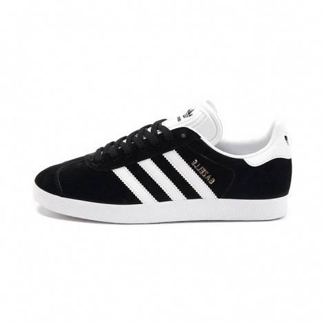 Men adidas Gazelle black white