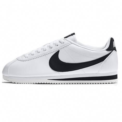 Nike Cortez Cuir de base blanc / noir