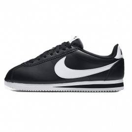 Nike Cortez Основная кожа черный / белый