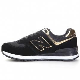 new balance 574 donna nere e oro