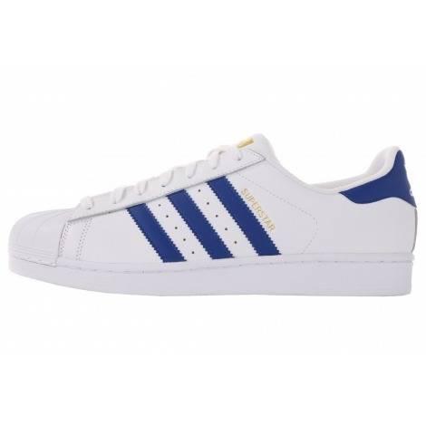 Femmes Adidas Originals Superstar Baskets blanc bleu