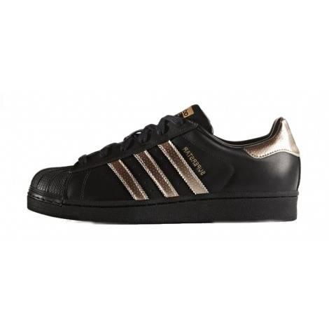 Femmes Adidas Originals Superstar Baskets or noir