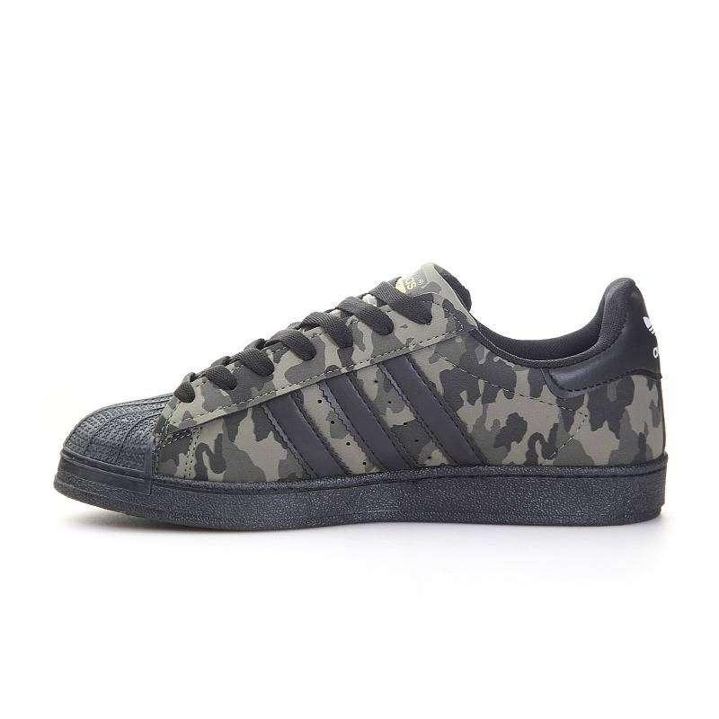 Femmes Adidas Originals Superstar Baskets Camouflage noir