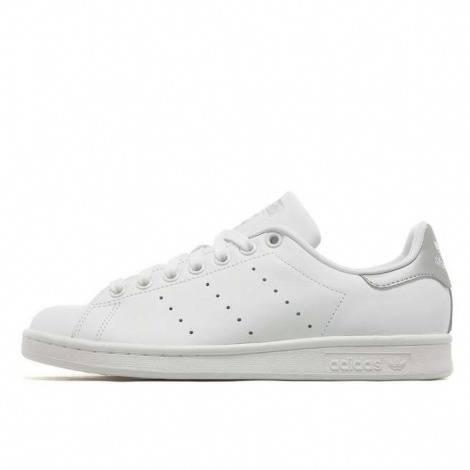 Femmes Adidas Originals Stan Smith Baskets argent blanc